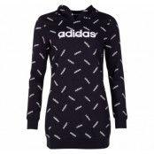 W Aop Hdy, Black/White, S,  Adidas Kläder
