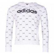 W Core Fav Hdy, White/Black, L,  Adidas Kläder