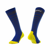 2XU Striped Run Compression Socks Herr Titanium/Navy