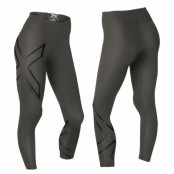 2XU Hyoptik Midrise Compression Tights Dam Black/Black Reflective