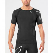 2XU Compression S/S Top Men  Black/Silver