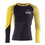 Lynx Compression Shirt  M, Black/Yellow, Xl,  Träningskläder