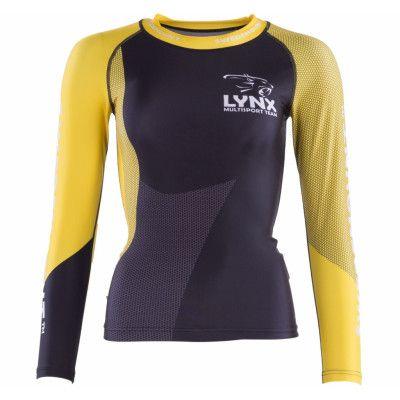 Lynx Compression Shirt  W, Black/Yellow, 38,  Långärmade Tröjor