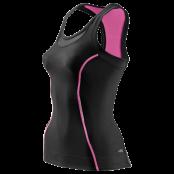 Skins A200 Womens Racer back top - Kompressionslinne - Svart/Rosa - Utförsäljning