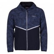 Athletic Jacket, Dk Navy/Navy Aop, L,  Swedemount Jackor